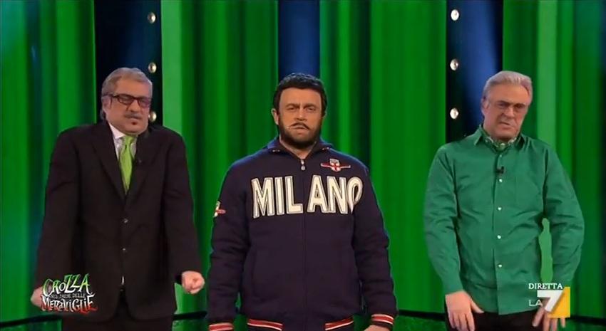 "Crozza Imita Salvini (Video): ""Felpetta Nera"""