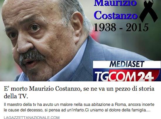 Maurizio Costanzo Morto? L'Ultima Bufala del Web