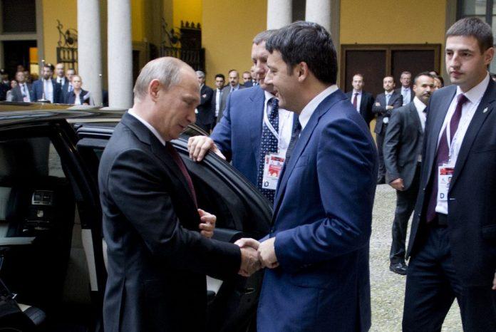 Incontro Putin-Renzi a Expo Milano 2015