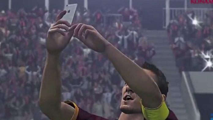 Pes 2016, Esultanze: c'è il Selfie di Totti