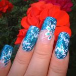 Nail Art Estate 2015: Blu Cristal Flower