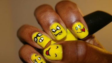 Photo of Nail Art Facili: Emoticon Dispettose