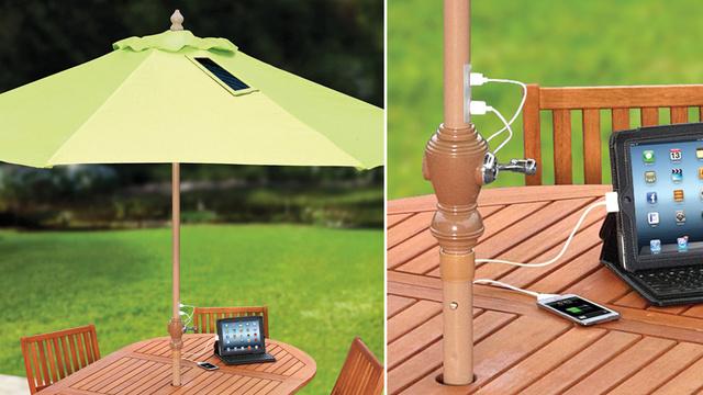 Invenzioni italiane: arriva l'ombrellone che ricarica gli smartphone