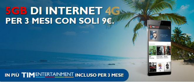 Offerta Tim SuperGiga 2015: Nove Euro 5GB di Internet