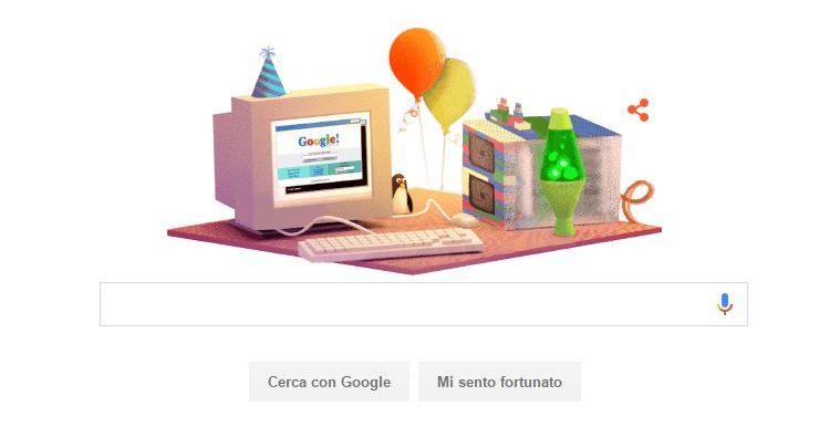 Compleanno Google: 17 anni di storia in un doodle