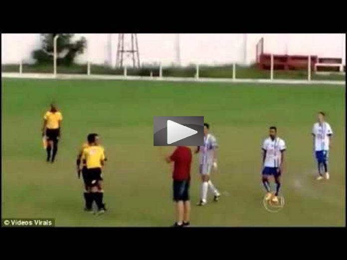 Brasile, Arbitro Estrae Pistola in Campo (Video)