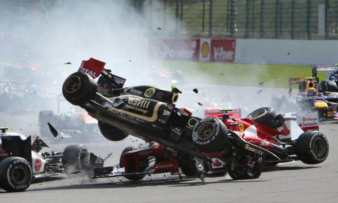 Incidente Romain Grosjean Gp Russia 2015 Formula 1 (Video)