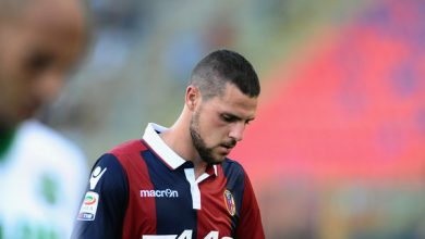 Video esultanza esagerata Mattia Destro Bologna-Roma 2-2