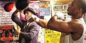 Sylverster Stallone e Michael B Jordan sul set del film Creed 2