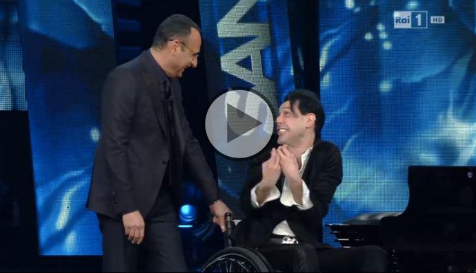 Ezio Bosso a Sanremo 2016 (Video 11 febbraio)