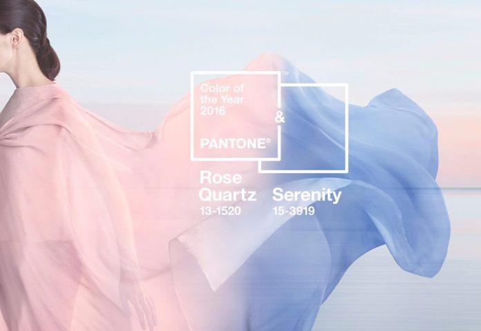 Moda 2016: Colori dell'anno Azzurro Serenity e Rosa Quartz