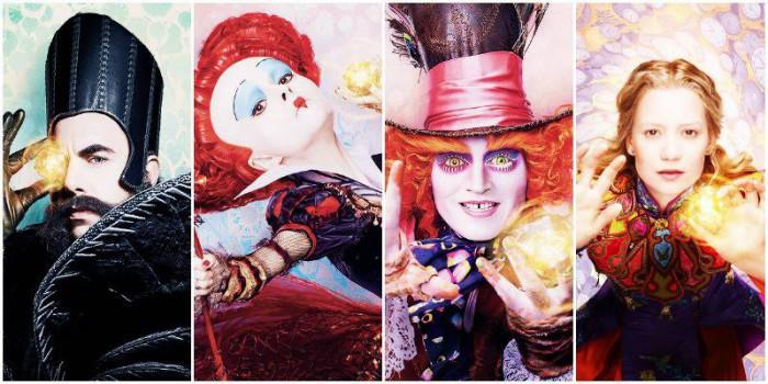 Alice attraverso lo specchio i poster dei personaggi - Alice e lo specchio ...