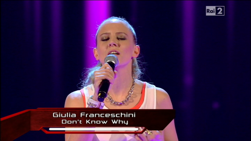 Giulia Franceschini a The Voice: l'ex di Amici nel Team Dolcenera (Video)