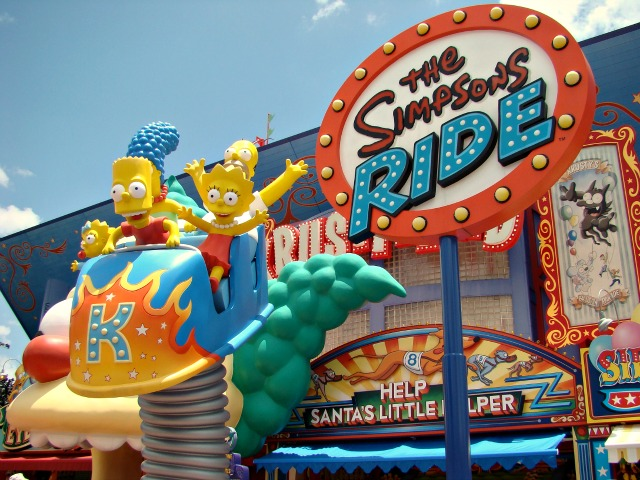 The Simpsons Ride Orlando Florida