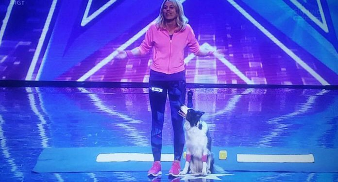 Video Christine a Italia's got talent: la ginnastica canina
