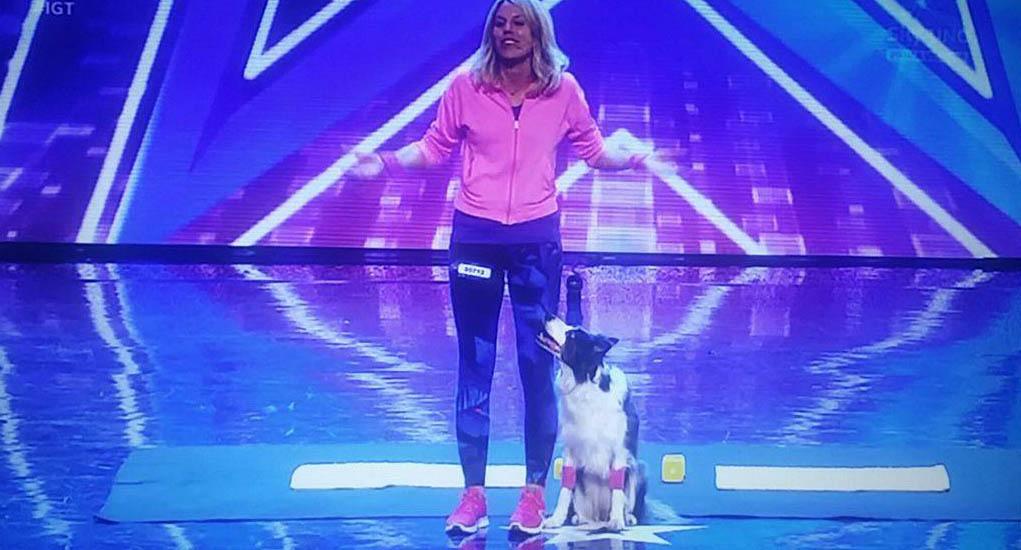 Video Christine a Italia's got talent: la ginnastica canina