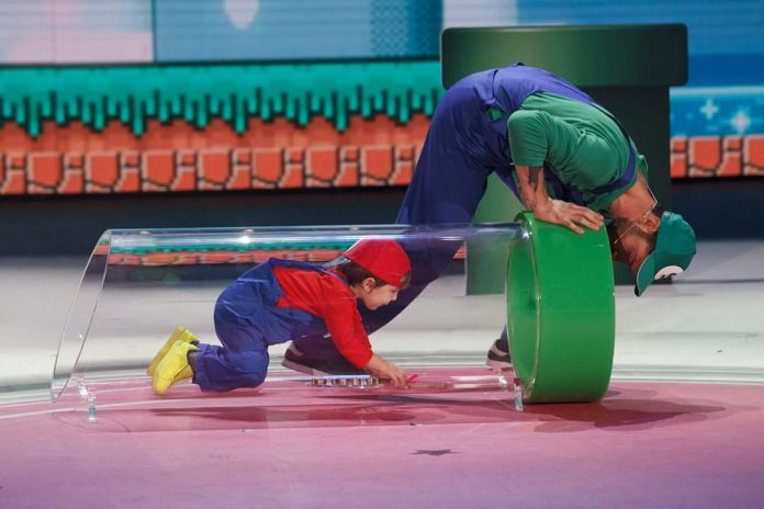 Giorgio Super Mario a Pequenos Gigantes (Video 11 marzo 2016)