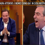 Gasparri contro Telese a Quinta Colonna (Video)