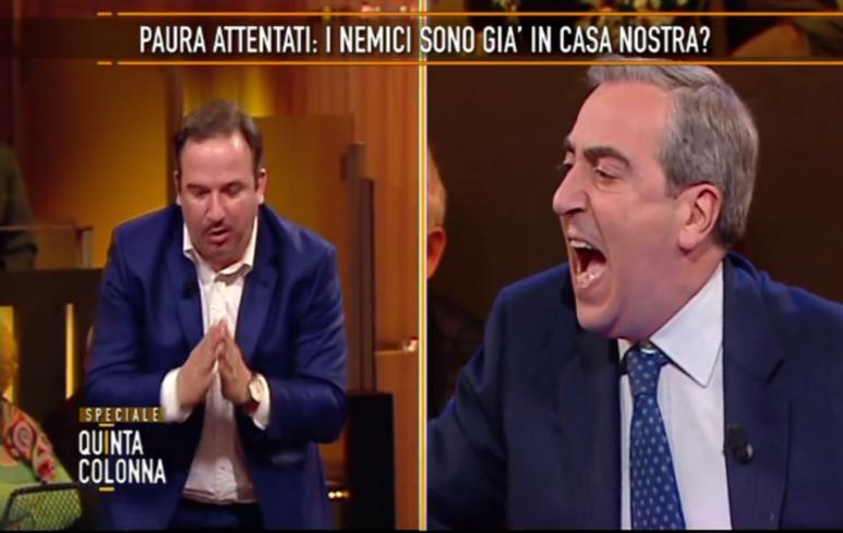 Gasparri contro Telese a Quinta Colonna (Video)