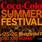 Cocacola Summer Festival 2016: Date Concerti, Cantanti e Conduttori
