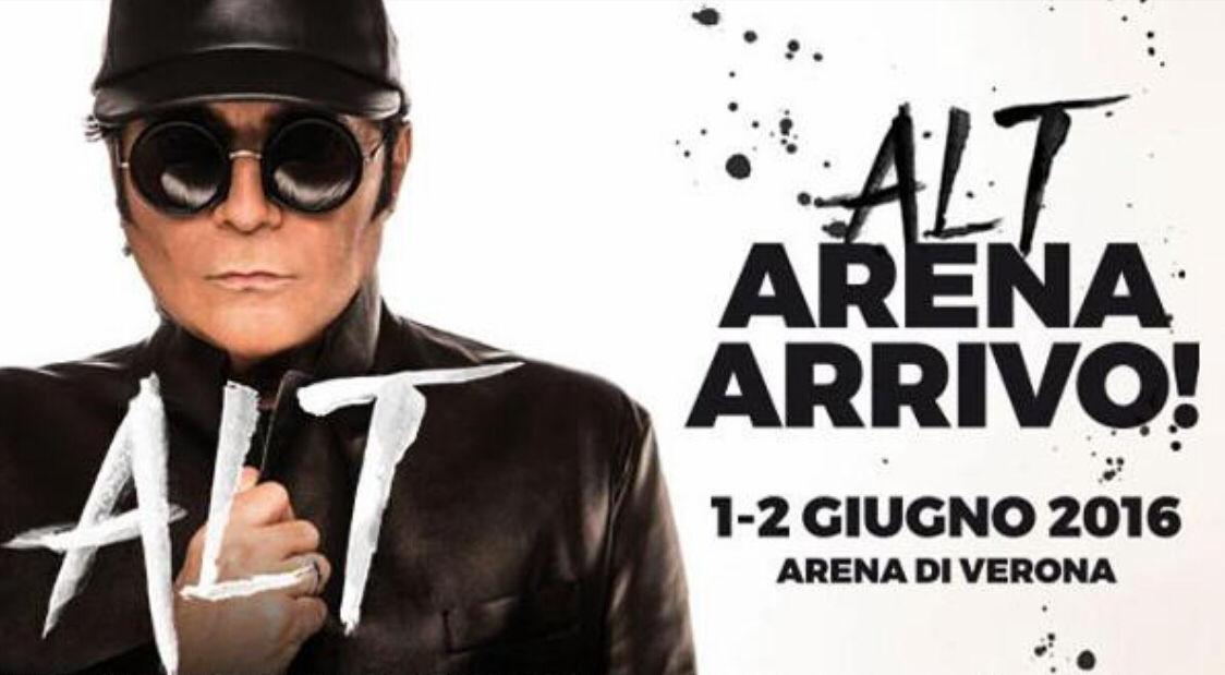 Renato Zero in Concerto Arena di Verona (Alt Tour 2016): La Scaletta
