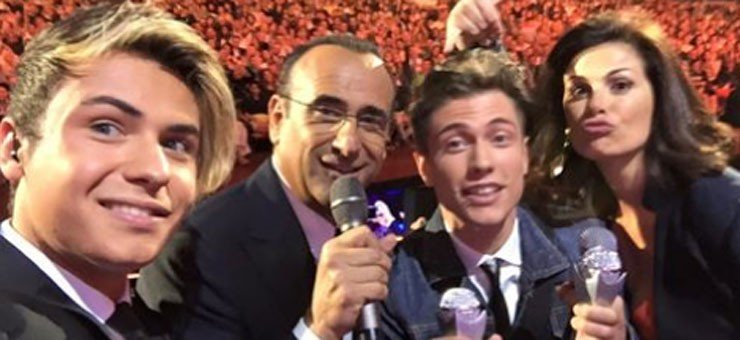 Benji e Fede ai Wind Music Awards: Video Tutta d'un fiato e premiazione Baudo