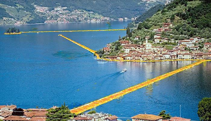 Christo sul Lago d'Iseo, le date: apertura fino al 3 luglio