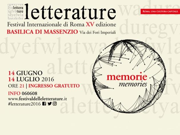 Letterature Festival Internazionale di Roma 2016: programma e info
