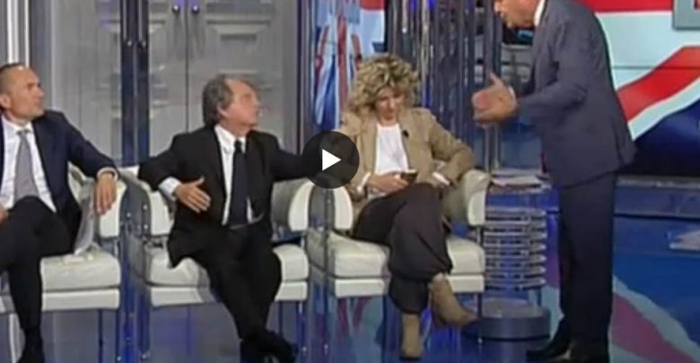 Lite Vespa Brunetta a Porta a Porta (Video)