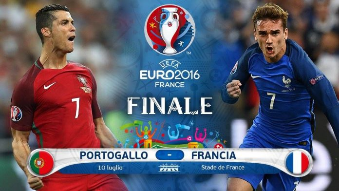 Portogallo-Francia Diretta TV e Streaming Gratis Europei 2016 su Rai.tv