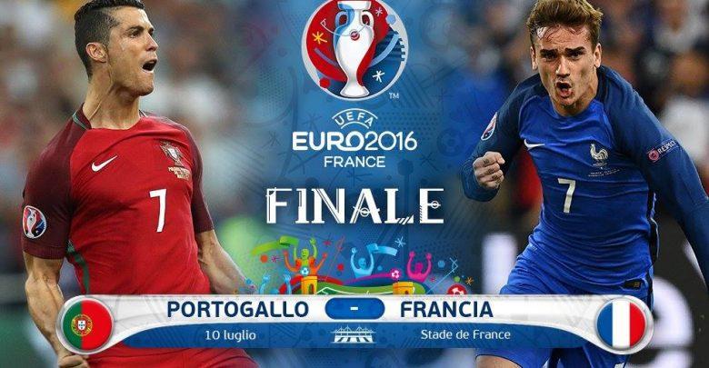 Portogallo-Francia Diretta TV e Streaming Gratis Europei 2016 su Rai.tv