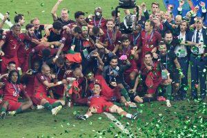 Vittoria Portogallo Euro 2016 premiazione