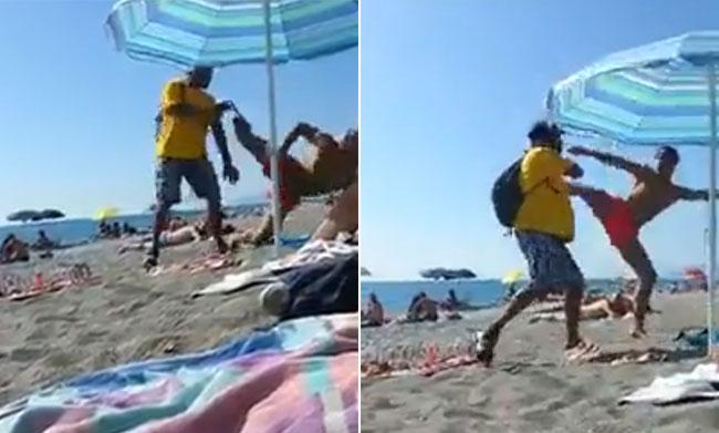 Extracomunitario Picchiato in Spiaggia in Calabria (Video)