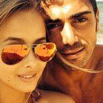 Vicky Varga fidanzata Pelle in tribuna Germania Italia (Foto) 1