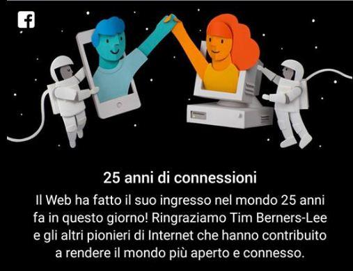 25 anni di Connessioni, l'omaggio di Facebook a Internet