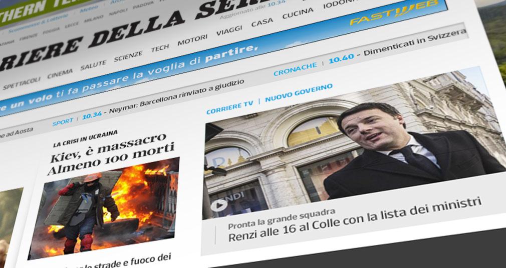 Corriere.it a Pagamento: Crollo di Visite, i Giornali Concorrenti Ringraziano