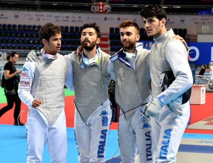 Francia-Italia 45-30 Fioretto a Squadre Uomini (Scherma Rio 2016)