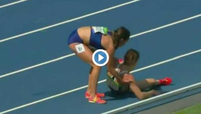 Video | D'Agostino cade e la Hamblin la rialza (Atletica Leggera Rio 2016)