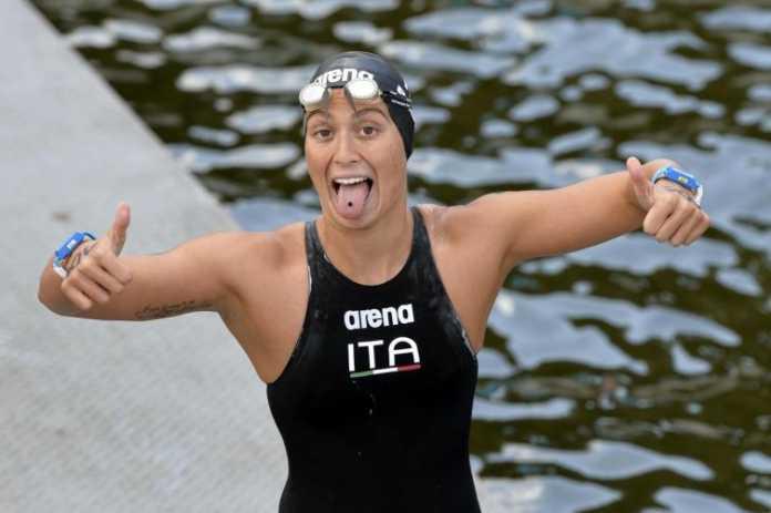 Bruni Argento nei 10 km Femminile (Nuoto Fondo Rio 2016)