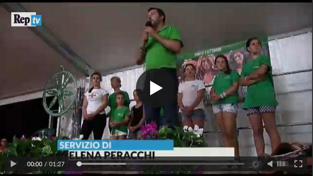 Il ballo di Salvini sulle note di andiamo a governare (Video)