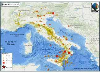 INGV, terremoti continui nella notte: sciame sismico senza sosta