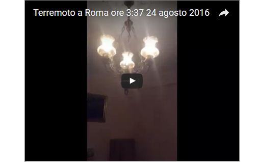Terremoto Roma 24 Agosto: Video