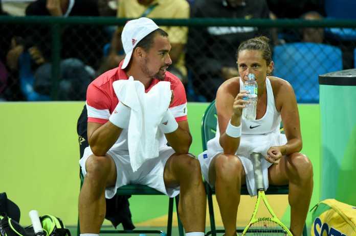 Vinci-Fognini eliminati nei Quarti Doppio Misto (Tennis Rio 2016)