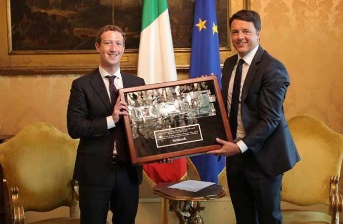 Zuckerberg da Renzi, a Roma il fondatore di Facebook