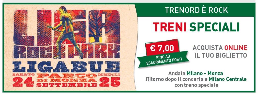 Trenord, biglietti a 7 euro per i concerti di Ligabue