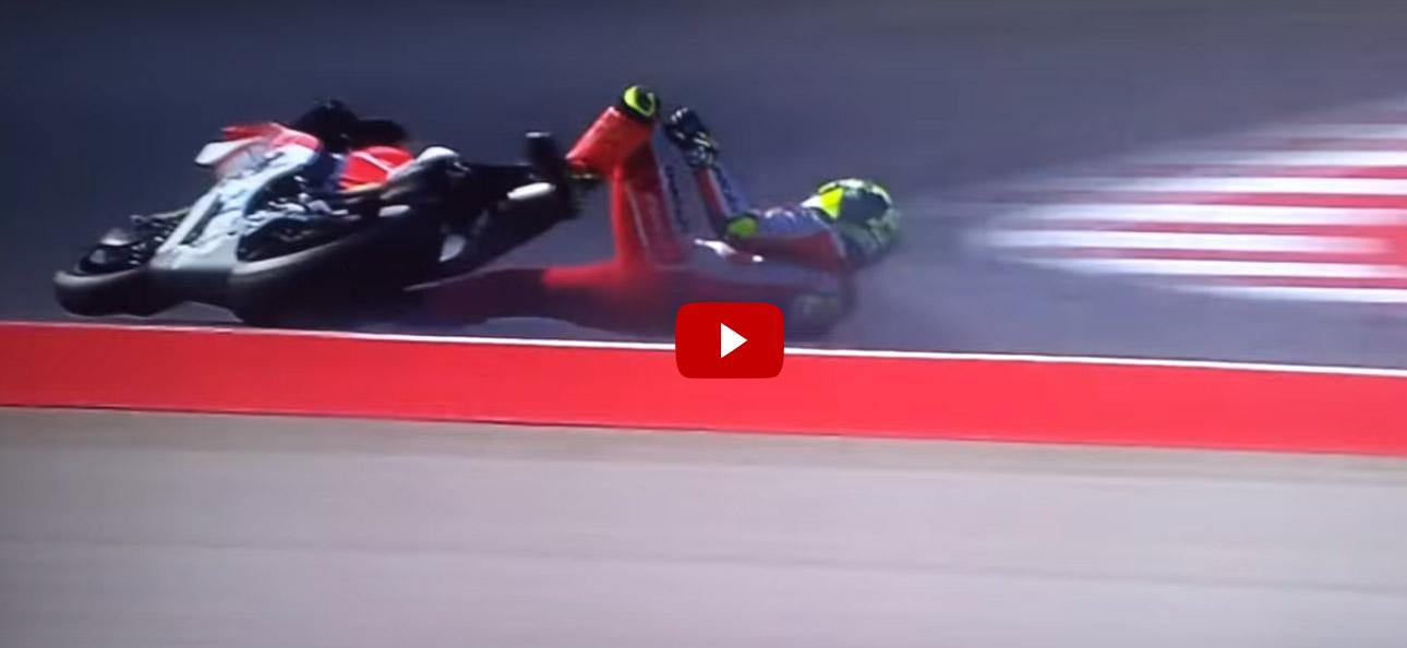 Caduta Iannone durante il MotoGp di Misano 2016 (Video)