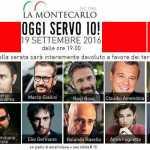 """Raoul Bova e Claudio Amendola camerieri per l'iniziativa """"Oggi Servo io, un'amatriciana per Amatrice"""" (Video)"""