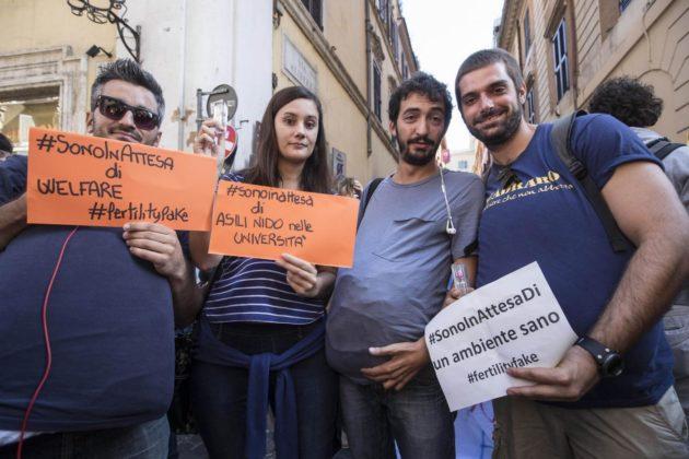 Fertility Day, proteste a Roma: chieste dimissioni della Lorenzin