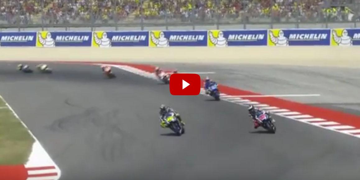 Sorpasso Rossi a Lorenzo MotoGP Misano 2016 (Video)