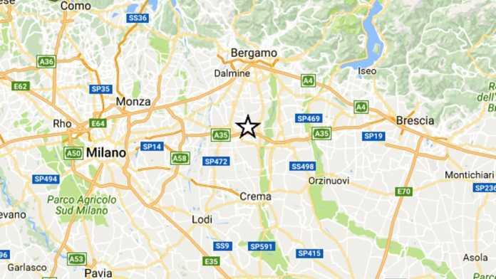 Terremoto a Bergamo oggi, scossa avvertita anche nel Milanese